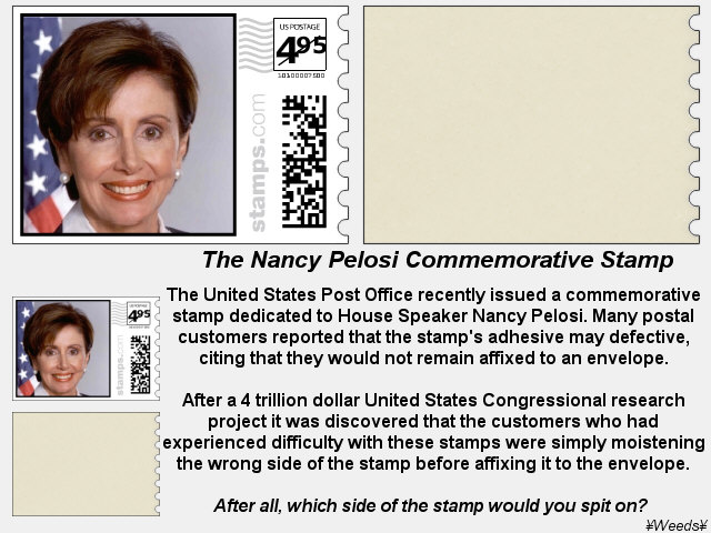 Nancy Pelosi Commemorative Stamp