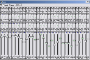 "Cakewalk Professional v3.01 ""Faders"" View (Circa 2010, running under Windows XP)"